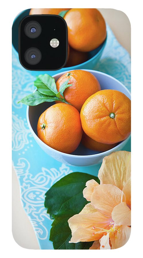 Florida IPhone 12 Case featuring the photograph Mandarin Oranges On A Platter by Pam Mclean