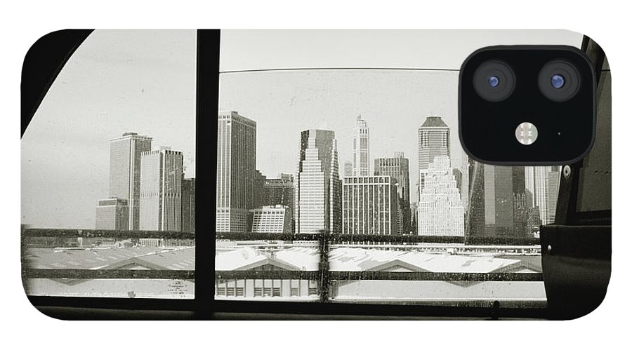 Car Interior IPhone 12 Case featuring the photograph Manhattan Through Car Window by Matt Carr