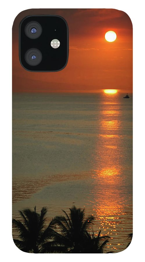 East IPhone 12 Case featuring the photograph Manila Bay Sunset by Vanwyckexpress
