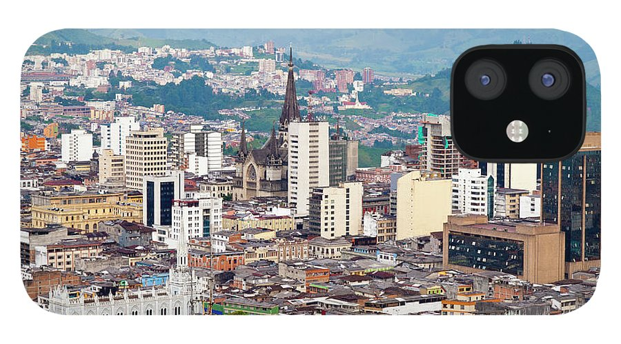 Built Structure IPhone 12 Case featuring the photograph Manizales City View, Colombia by Holgs
