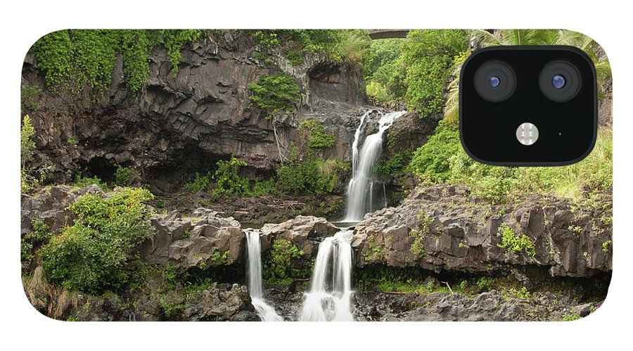 Tropical Rainforest IPhone 12 Case featuring the photograph Maui&8217s Seven Sacred Pools by 400tmax