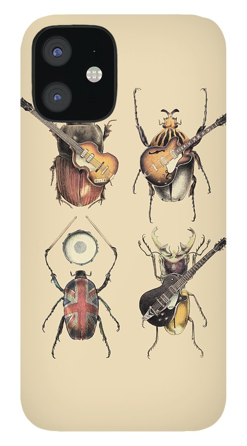 Beatles IPhone 12 Case featuring the digital art Meet the Beetles by Eric Fan
