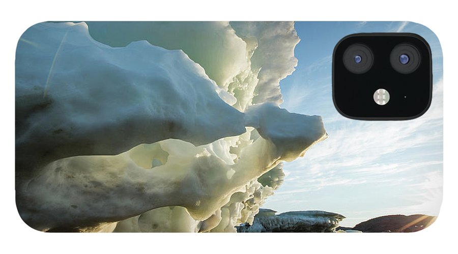 Scenics IPhone 12 Case featuring the photograph Melting Iceberg, Nunavut Territory by Paul Souders