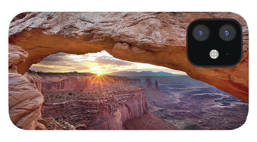Tranquility IPhone 12 Case featuring the photograph Mesa Arch, Canyonlands, Utah by Simon J Byrne