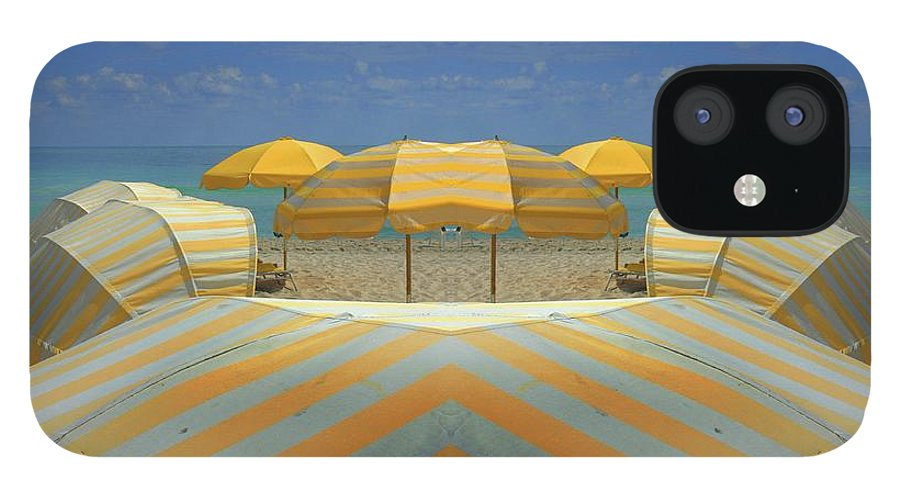 Tranquility iPhone 12 Case featuring the photograph Miami Mirror Beach by Elido Turco Photographer