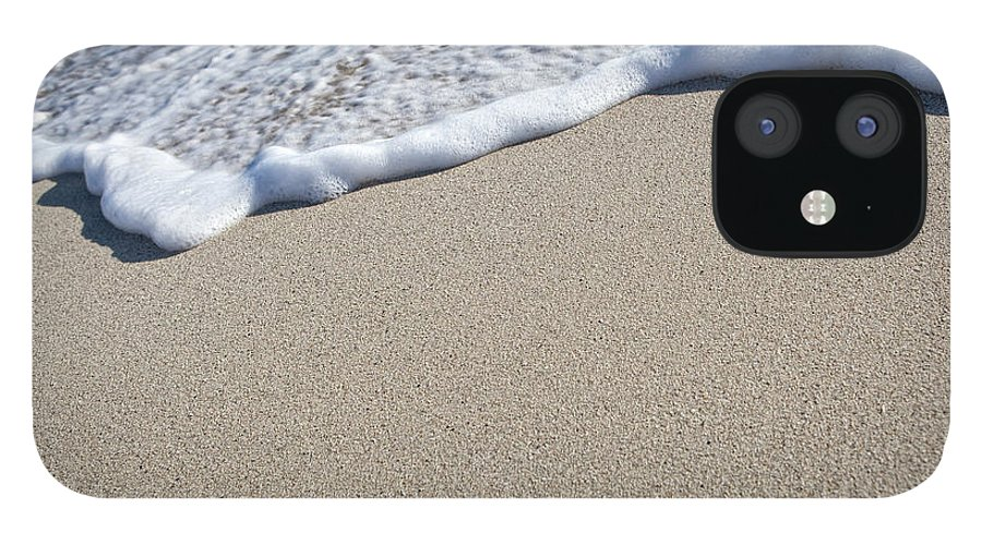 Water's Edge IPhone 12 Case featuring the photograph Miami South Beach Sand And Surf by Inhauscreative