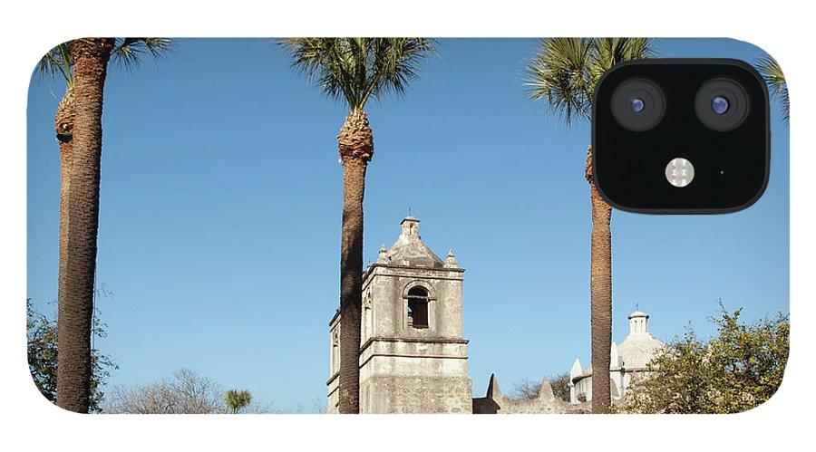 Built Structure iPhone 12 Case featuring the photograph Mission Concepcion Detail, San Antonio by Ivanastar