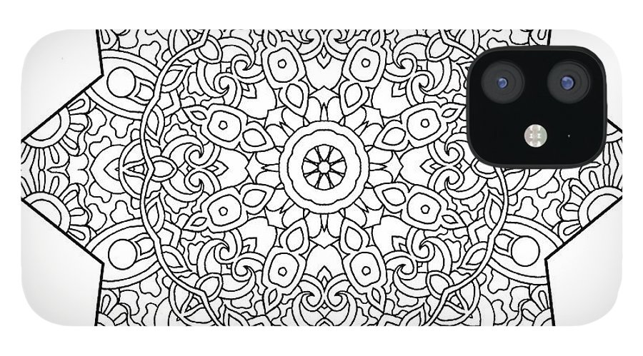 Coloring Books IPhone 12 Case featuring the drawing Mixed Coloring Book 1 by Kathy G. Ahrens