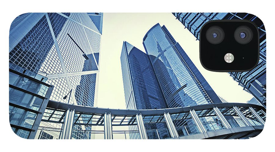 Corporate Business IPhone 12 Case featuring the photograph Modern Office Buildings by Nikada