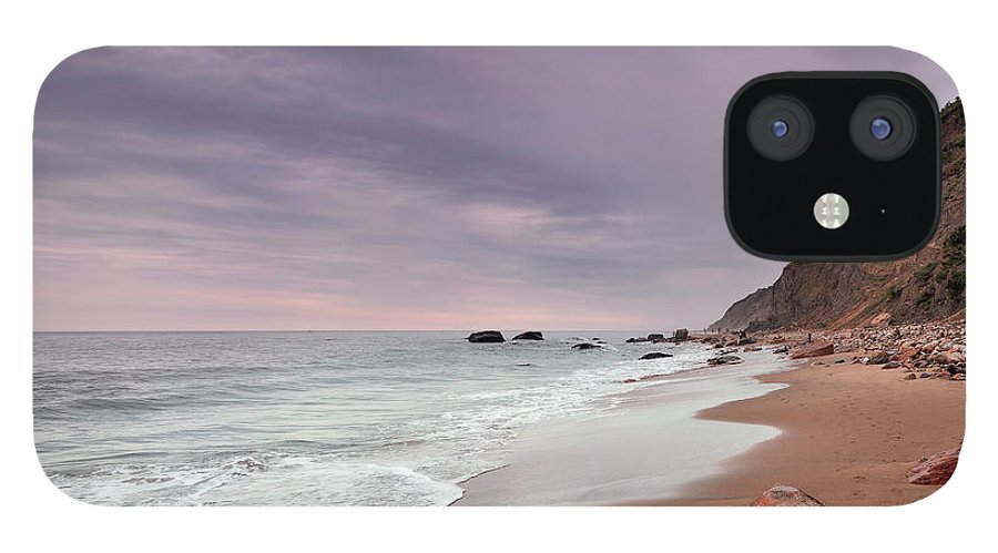 Water's Edge IPhone 12 Case featuring the photograph Mohegan Bluffs Beach- Block Island by Shobeir Ansari