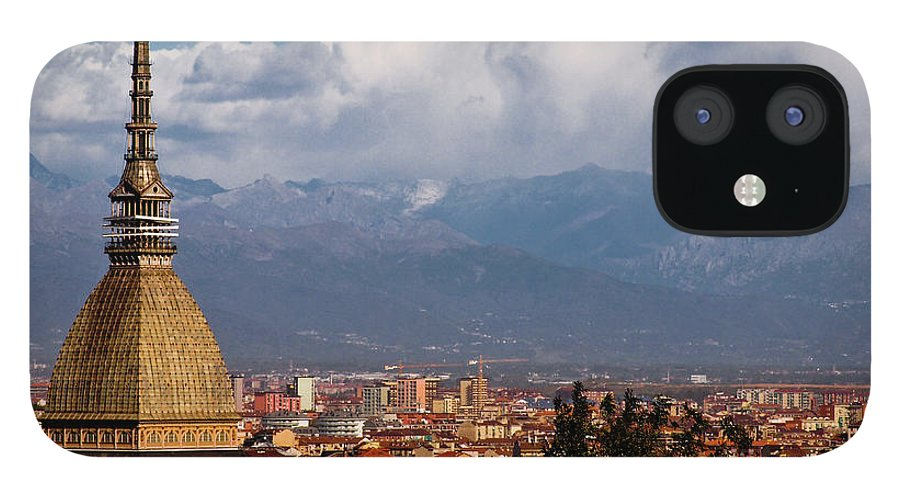 Built Structure IPhone 12 Case featuring the photograph Mole Antonelliana, Torino And Alps by Rodolfo Rodríguez Castro