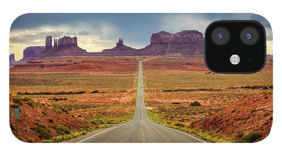 Scenics IPhone Case featuring the photograph Monument Valley by Posnov