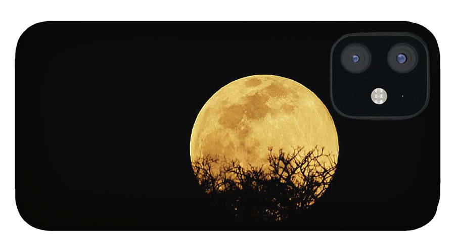 Horror IPhone 12 Case featuring the photograph Moon Rise by Rollingearth