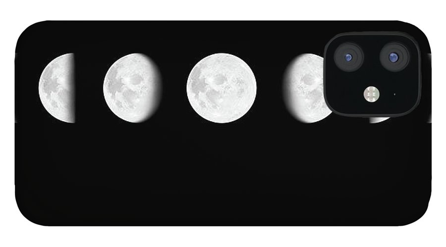 Sequential Series IPhone 12 Case featuring the photograph Moon Surface With Different Phases Xxxl by Cruphoto
