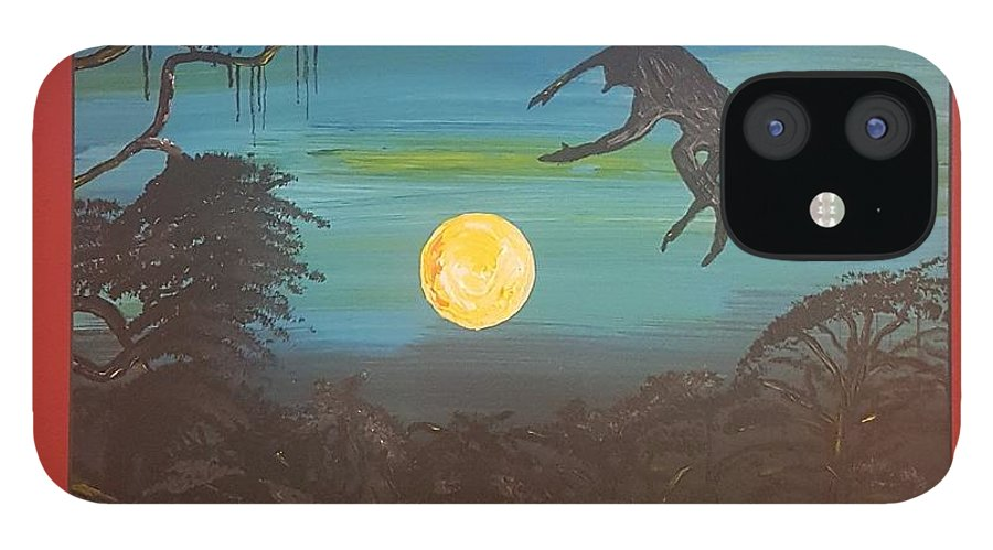 Moonlight Baboon IPhone 12 Case featuring the photograph Moonlight Baboon by Quintus Curtius