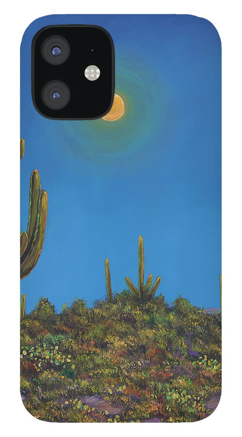 Arizona IPhone 12 Case featuring the painting Moonlight Serenade by Johnathan Harris