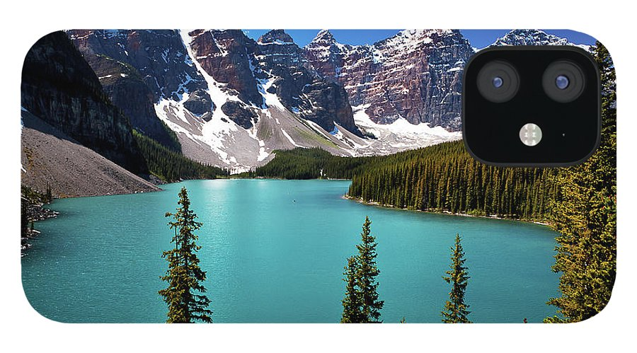 Scenics IPhone 12 Case featuring the photograph Moraine Lake, Banff National Park by Edwin Chang Photography