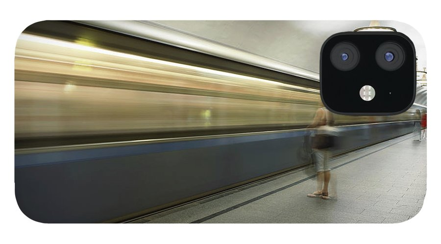 People IPhone 12 Case featuring the photograph Moscow Metro by Fmajor