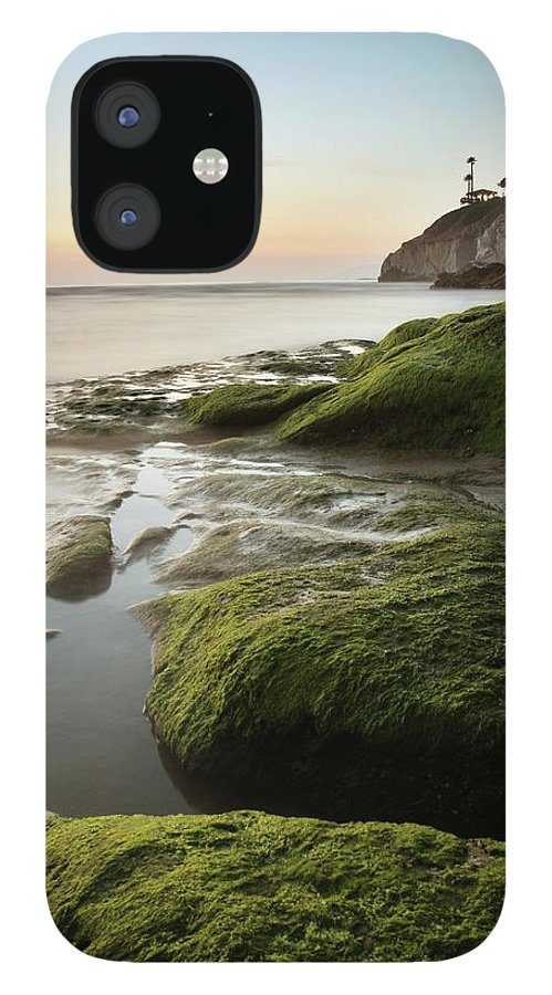 Pismo Beach IPhone 12 Case featuring the photograph Mossy Rocks At Pismo Beach by Kevinruss