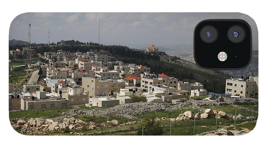 Tranquility IPhone 12 Case featuring the photograph Mount Gerizim, Samaritan Community by Gunter Hartnagel