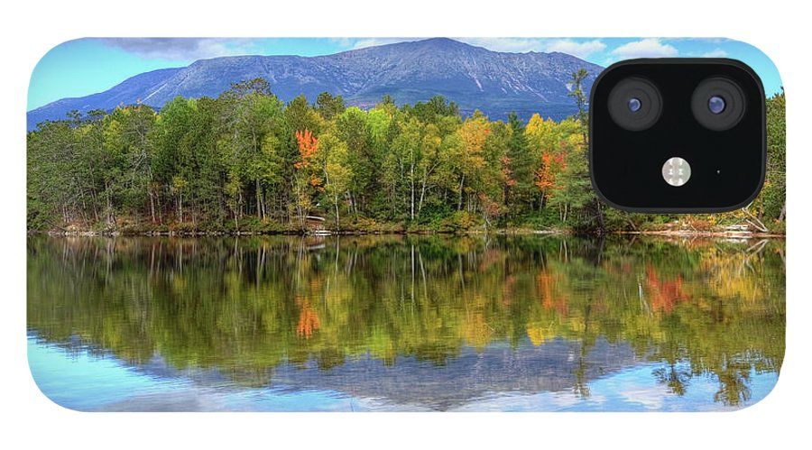 Scenics IPhone 12 Case featuring the photograph Mount Katahdin by Denistangneyjr