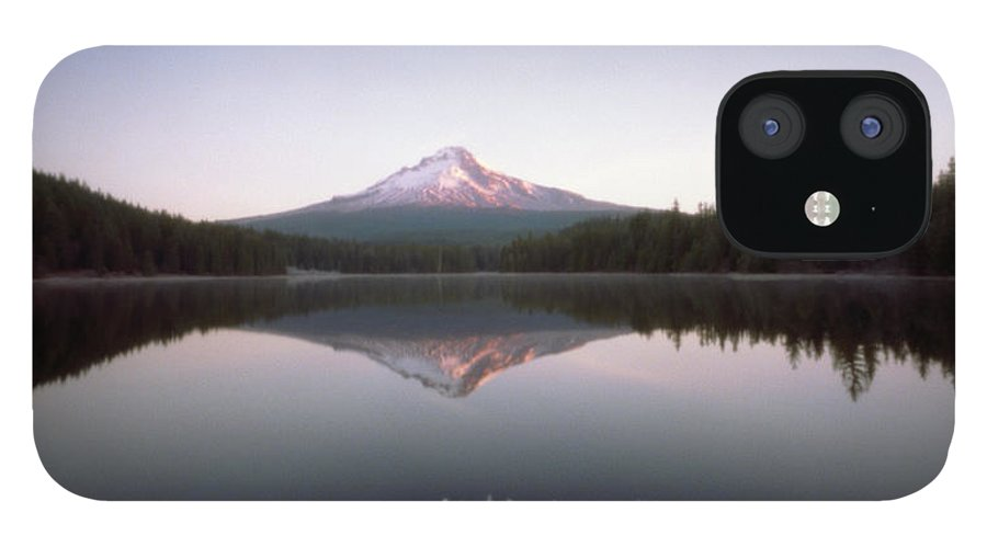 Scenics IPhone 12 Case featuring the photograph Mt. Hood Lit By Sunrise by Wendi Andrews