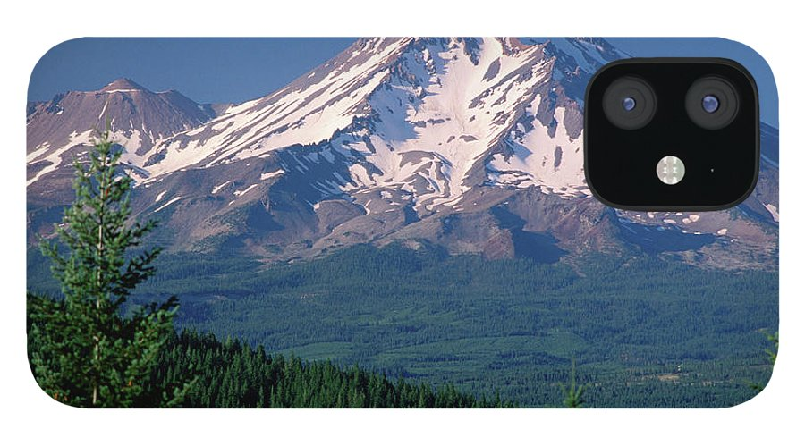 Toughness IPhone 12 Case featuring the photograph Mt Shasta Across Lake Siskiyou, Mt by John Elk Iii
