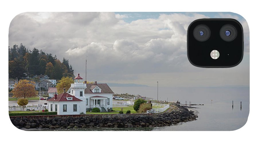 Water's Edge IPhone 12 Case featuring the photograph Mukilteo Lighthouse On Puget Sound by Stevedf