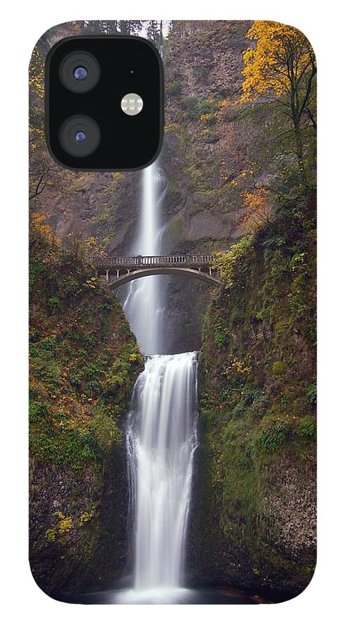 Scenics IPhone 12 Case featuring the photograph Multnomah Falls by Ted Ducker Photography