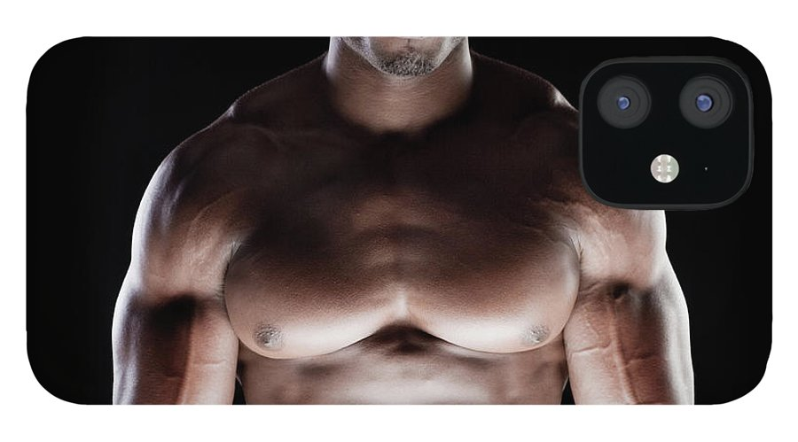 Young Men IPhone 12 Case featuring the photograph Muscular Man by Pkline