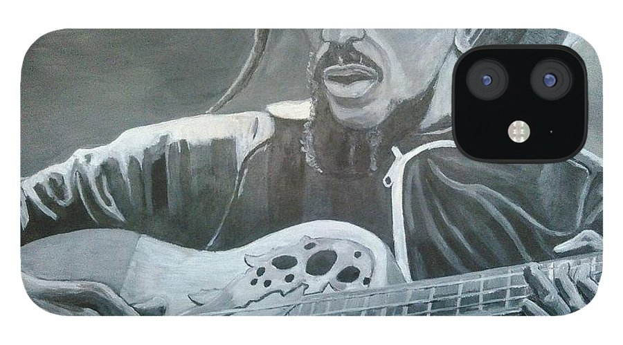 Bob Marley Painting iPhone 12 Case featuring the painting Musical Man by Andrew Johnson