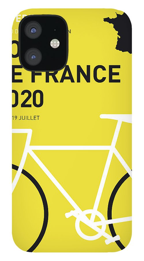 2020 iPhone 12 Case featuring the digital art My Tour De France Minimal Poster 2020 by Chungkong Art