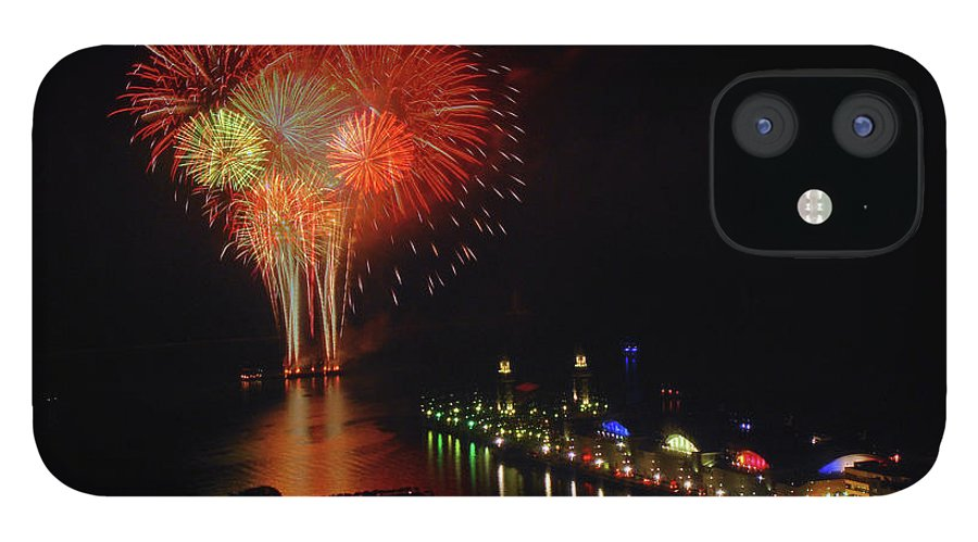 Firework Display IPhone 12 Case featuring the photograph Navy Pier Fireworks by Image By Douglas R. Siefken