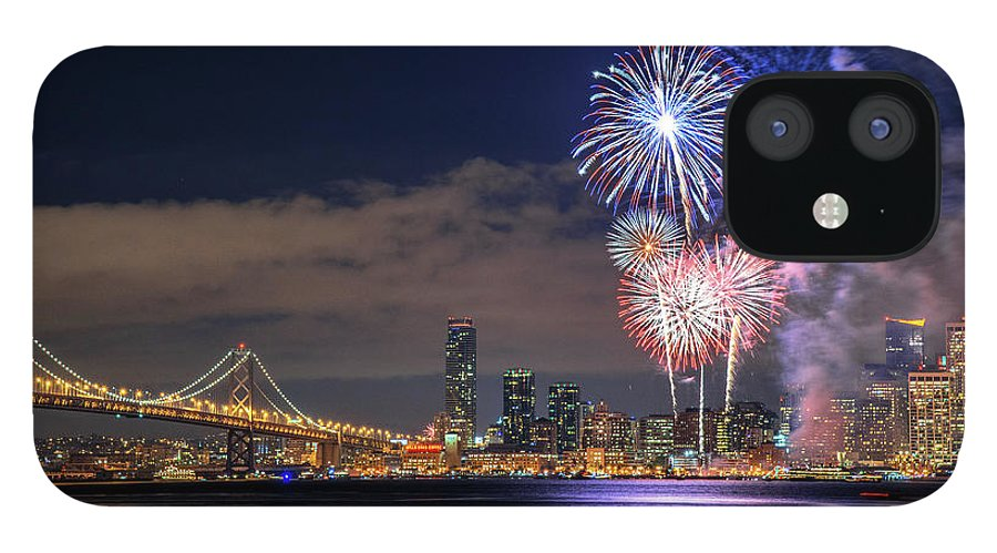 Firework Display IPhone 12 Case featuring the photograph New Year Fireworks by Piriya Photography