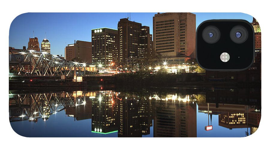 Clear Sky iPhone 12 Case featuring the photograph Newark, New Jersey by Jumper