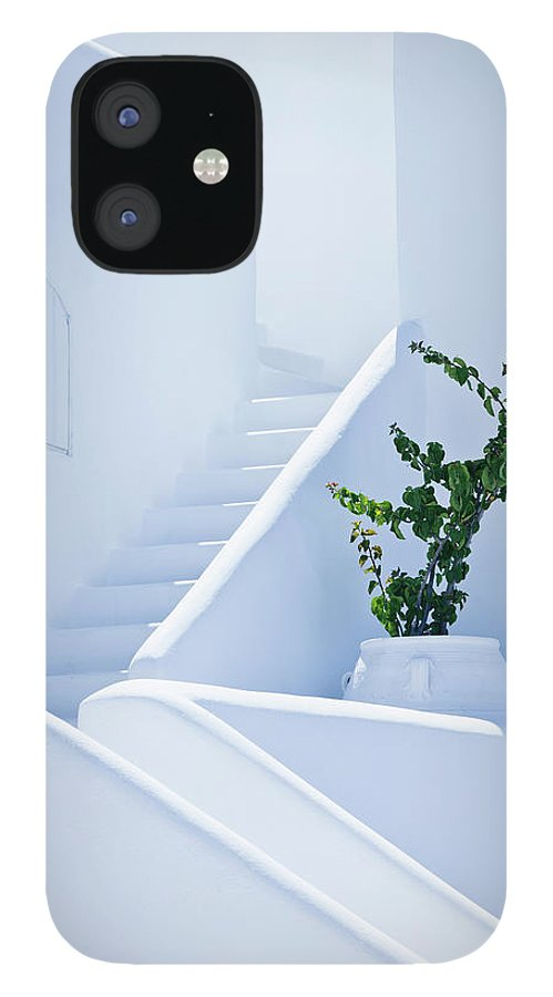 Steps IPhone 12 Case featuring the photograph Nice White Stairs In Oia Village by Mbbirdy