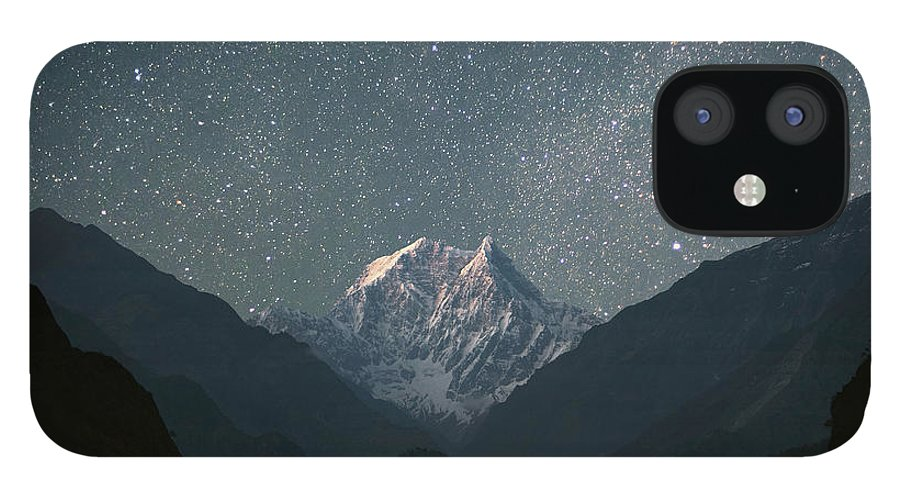 Himalayas IPhone 12 Case featuring the photograph Nilgiri South 6839 M by Anton Jankovoy