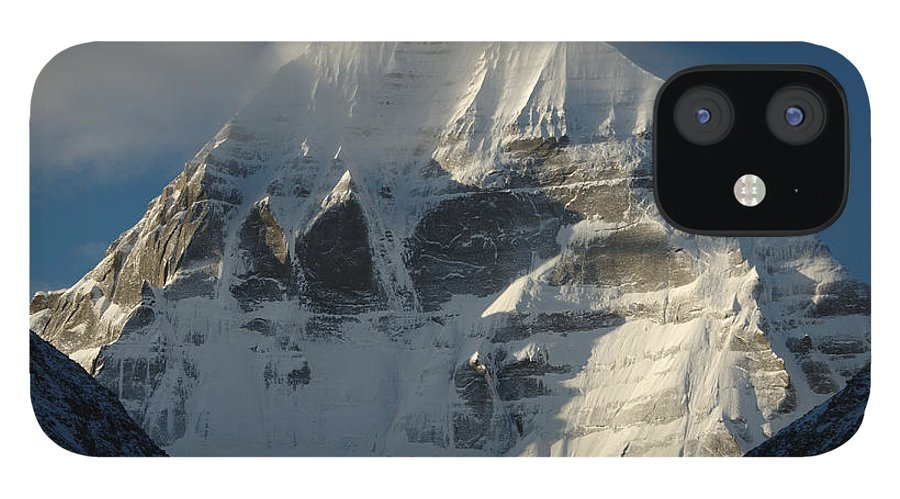 Chinese Culture iPhone 12 Case featuring the photograph North Face Of Mount Kailash Gang by Tcp