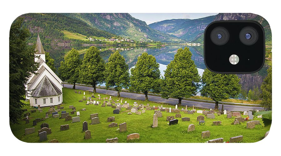 Tranquility iPhone 12 Case featuring the photograph Norway by Manuel Romaris