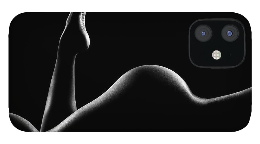 Woman IPhone 12 Case featuring the photograph Nude woman bodyscape 14 by Johan Swanepoel