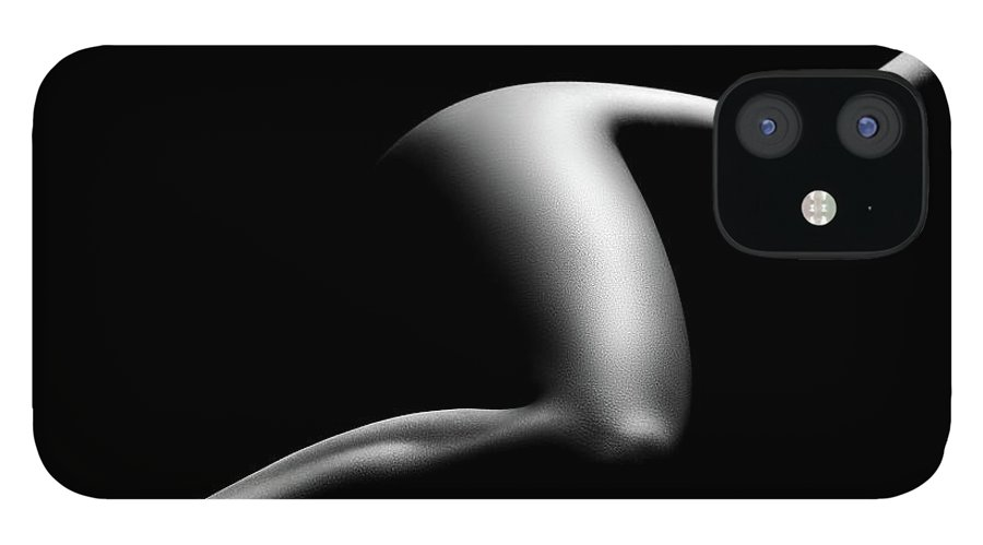 Woman IPhone 12 Case featuring the photograph Nude woman bodyscape 9 by Johan Swanepoel