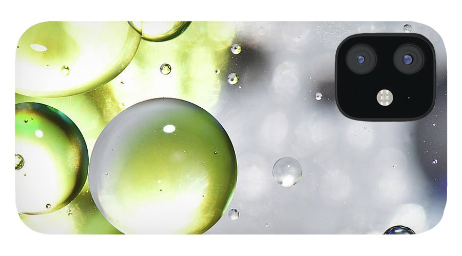Mixing IPhone 12 Case featuring the photograph Oil Spheres by Dovate