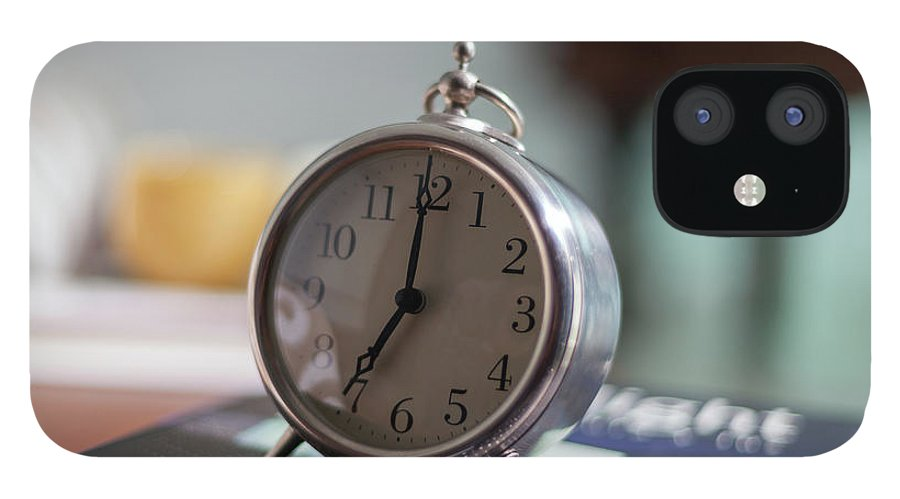 Madrid IPhone 12 Case featuring the photograph Old Alarm Clock by Julio Lopez Saguar