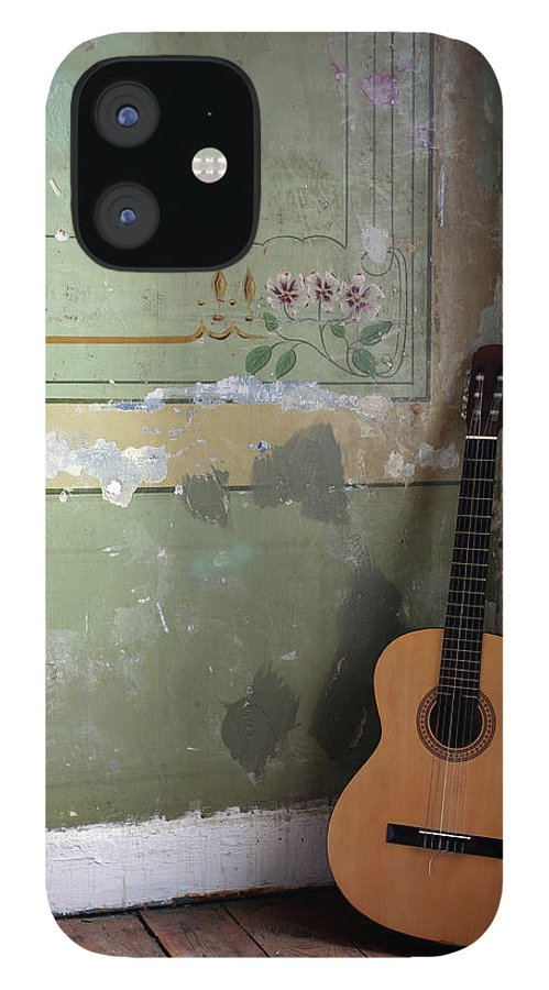 Music IPhone 12 Case featuring the photograph Old Guitar by Kursad