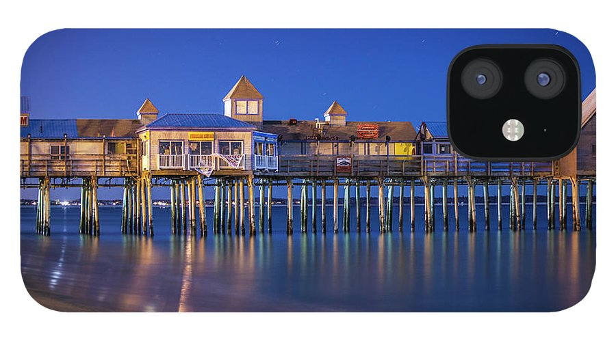 Pier IPhone 12 Case featuring the photograph Old Orchard Beach Pier by Trevor Slauenwhite