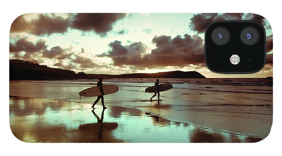 Water's Edge IPhone 12 Case featuring the photograph Old Skool Surf by Landscapes, Seascapes, Jewellery & Action Photographer