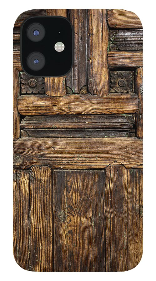 Arch IPhone 12 Case featuring the photograph Old Wooden Door by Logosstock