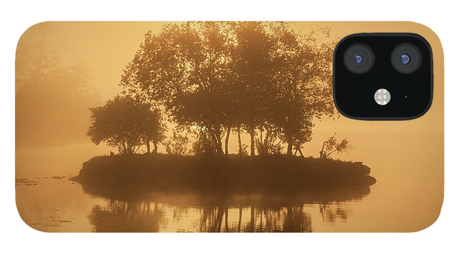 On Golden Pond IPhone 12 Case featuring the photograph On Golden Pond Sunrise Lake Winnipesaukee by Trevor Slauenwhite