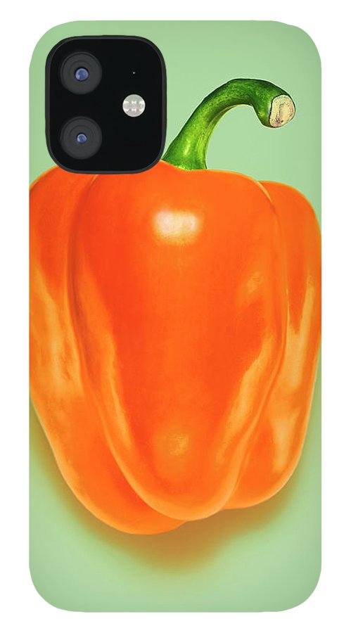 Orange Color IPhone 12 Case featuring the photograph Orange Pepper by Adrian Burke