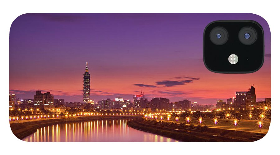Orange Color IPhone 12 Case featuring the photograph Orange Sunset by © Copyright 2011 Sharleen Chao